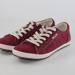 Women's Taos Casual Low top sneaker Red